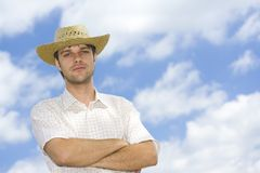 Handsome young man. Portrait of a handsome young man outdoor Stock Photo
