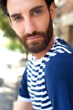 Handsome young man with beard Stock Photos