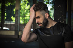 Handsome young man with beard Royalty Free Stock Photo