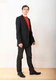 Handsome young man in black tie Stock Photography