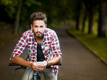 Handsome young man with blue eyes Royalty Free Stock Photography