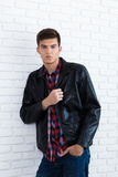Handsome young man in casual clothes Royalty Free Stock Images