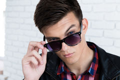 Handsome young man in casual clothes Royalty Free Stock Photos