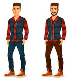 Handsome young man in casual outfit Royalty Free Stock Photography
