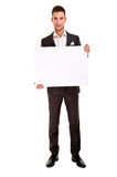 Handsome young man in classic suit Stock Photography