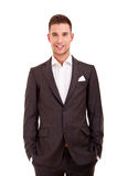 Handsome young man in classic suit Royalty Free Stock Images