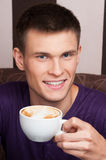 Handsome young man close up picture. Stock Photo