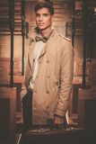 Handsome young man in coat Royalty Free Stock Image