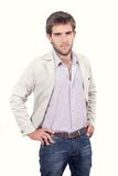 Handsome young man dressed casually Stock Photos