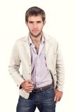 Handsome young man dressed casually Stock Images