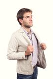 Handsome young man dressed casually Royalty Free Stock Photography