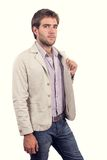 Handsome young man dressed casually Royalty Free Stock Photos