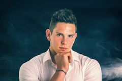 Handsome young man with elegant shirt Stock Photography