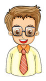 A handsome young man with an eyeglass Stock Photography