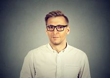 Handsome young man in eyeglasses royalty free stock photography