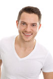 Handsome young man face - t-shirt Royalty Free Stock Images