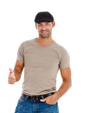 A handsome young man giving you the thumbs up Stock Photo