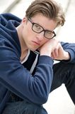 Handsome young man with glasses Royalty Free Stock Photos