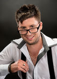 Handsome young man in glasses Royalty Free Stock Photography