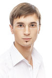 Handsome young man in glasses Stock Photography