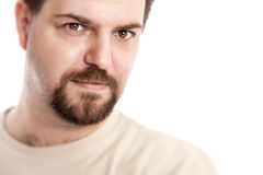 Handsome young man. A handsome young man with a goatee beard Royalty Free Stock Photo