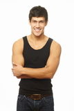 Handsome young man with great physique posing Royalty Free Stock Photo