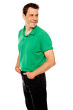 Handsome young man with hands in pocket Royalty Free Stock Photo