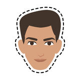 Handsome young man icon image Royalty Free Stock Photo