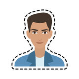 Handsome young man icon image Stock Photography