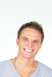 Handsome young man laughing Royalty Free Stock Photo