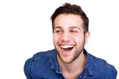 Handsome young man laughing Stock Images