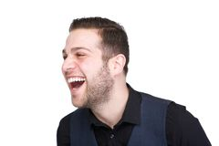 Handsome young man laughing Stock Image