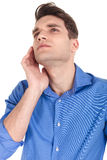 Handsome young man looking up Royalty Free Stock Image
