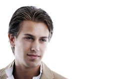 Handsome young man lost in thought Royalty Free Stock Photo