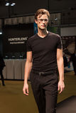 Handsome young man modelling with glasses at Mido 2014 in Milan, Italy Stock Image
