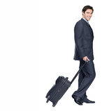 Handsome young man off on a business tour Royalty Free Stock Photo