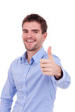 Handsome young man with ok gesture Royalty Free Stock Images