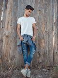 Handsome young man outdoors Stock Photography