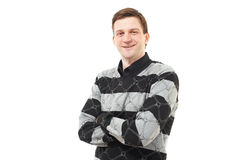 Handsome Young Man Over White Royalty Free Stock Photography
