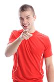 Handsome young man pointing finger at you Royalty Free Stock Photo