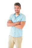Handsome young man posing with arms crossed Royalty Free Stock Photo
