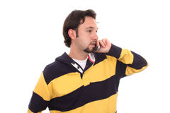 Handsome young man posing in casual clothes. Royalty Free Stock Image