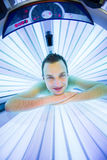 Handsome young man relaxing  in a  solarium Stock Photo