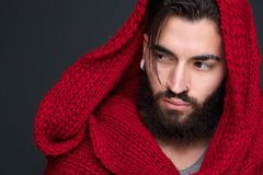 Handsome young man with scarf Stock Photography