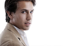 Handsome young man with a sensual expression Royalty Free Stock Photography