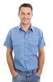 Handsome young man with shirt Royalty Free Stock Image