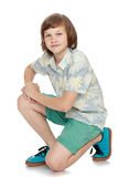 Handsome young man in shorts Royalty Free Stock Photo
