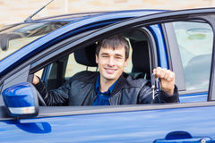 Free Handsome Young Man Sitting In His Car Stock Image - 63397231