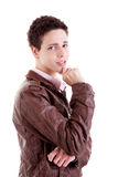 Handsome young man smiling Royalty Free Stock Image