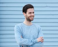 Handsome young man smiling Royalty Free Stock Images